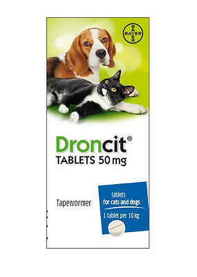 Tapeworm Tablets Cats & Dogs | Droncit Worming Capsules | DeWormer Pills