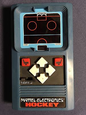 Mattel Electronics Hockey Handheld Game From 1978 - Tested And Works Great