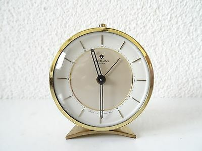 JUNGHANS BIVOX Germany Alarm Clock Vintage Mantel Shelf Metal