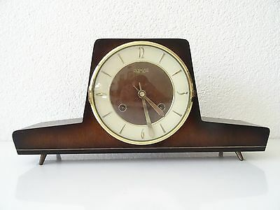 Olympic GERMAN Vintage Mantel Shelf Bracket Clock (Junghans Hermle Kienzle era)