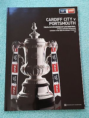 2008 - FA CUP FINAL PROGRAMME - CARDIFF CITY v PORTSMOUTH - V.G CONDITION
