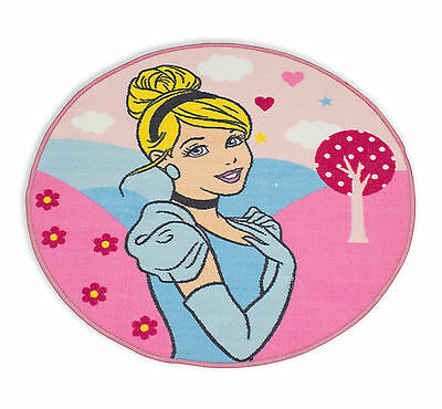 Disney Princess Enchanting Cinderella Rug Round Mat Girls Kids Childrens Bedroom