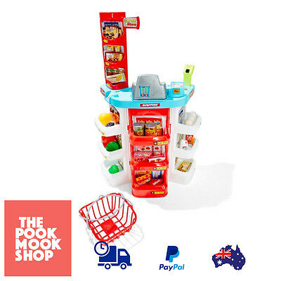 Kids Toy Supermarket Playset Play Pretend Shopping Set Grocery Register, Playact