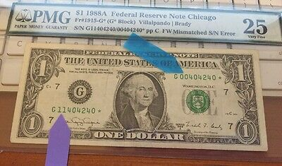 $1 DOUBLE-DIGIT MISMATCHED SERIAL #s on STAR note (4240*)