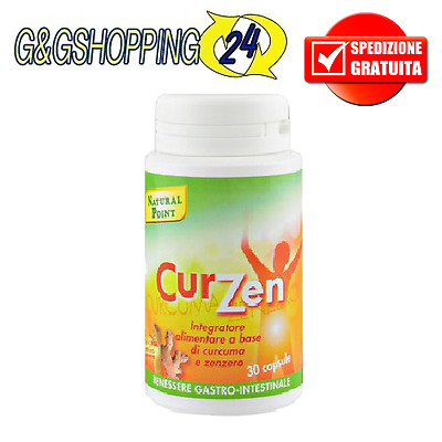 Curcuma + Zenzero Curzen Natural Point 30 cps Antiossidante