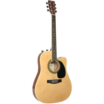Johnson JG-650-TN Thinbody Acoustic Electric Steel-String Guitar, Natural