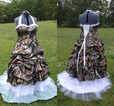2018 NEW CAMO Wedding Dresses Ball Gown Camouflage Bridal ...