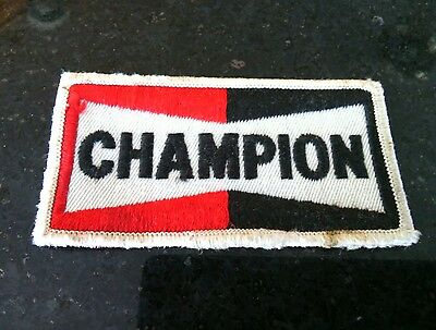 Collectible Vintage UK Champion Spark Plugs Embroidered Patch Race Advertising