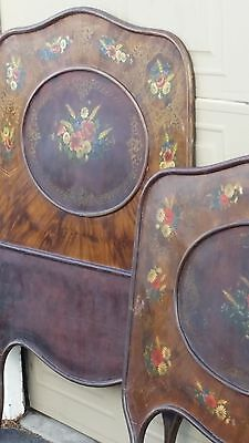 Antique Cast  Iron Single Bed with rails from Austria