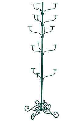 Hat Display Rack Boutique 5-Tier Millinery Floor Stand Green Hammertone