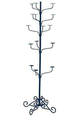Hat Display Rack Boutique 5-Tier Millinery Floor Stand Blue Hammertone