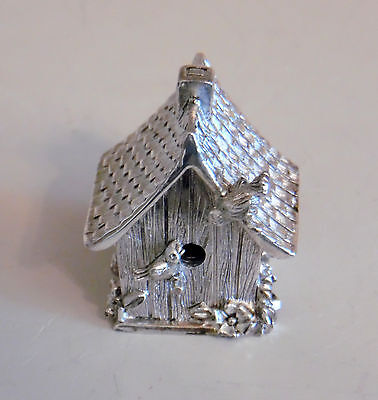 Lunt Mini Ep Pewter Bell Birdhouse And Birds