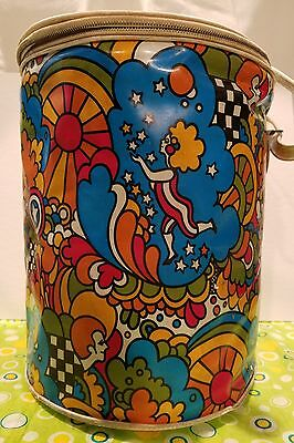 Vintage RARE PSYCHEDELIC 7UP The Uncola Insulated Cooler PETER MAX Ice Bucket