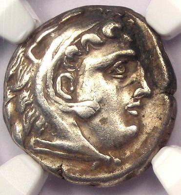 Alexander the Great III AR Drachm Coin 336 BC - Certified NGC XF (EF) - Rare!