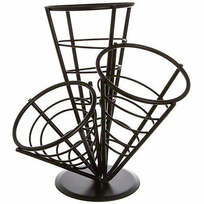 American Metalcraft (FCB33) 3 Cone Wrought Iron Conical Basket