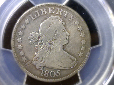 1805 Draped Bust Early Silver Quarter PCGS Fine - Great Looking Certified  Coin