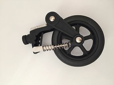 """Bugaboo Cameleon Frog Gecko Baby Stroller front swivel wheel 6"""" small parts"""