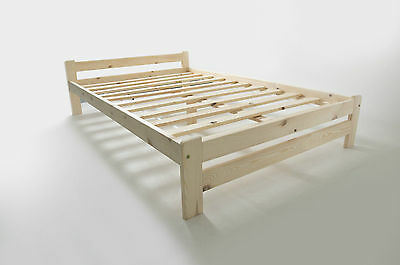 Solid Pine Double Bed Frame with Mattress