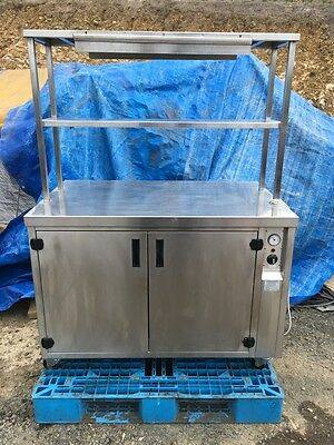 Stainless Steel Uright 2 Door Food Warming Cabinet On Wheels