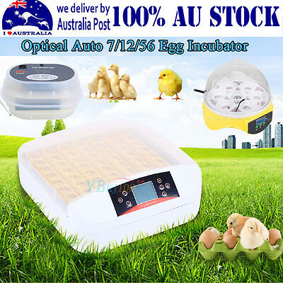 7/12/56 Egg Incubator Fully Automatic Digital LED Turner Poultry Chicken Duck IM
