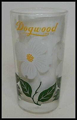 Vintage Boscul Flower Peanut Butter Glass Dogwood Yellow Name at Top Perfect! e