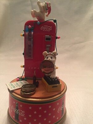"""1995 Coca-Cola """"A Refreshing Pause"""" Musical Action Figurine By Enesco"""