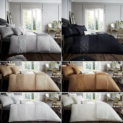Venice Luxurious Shiny Laces Duvet Covers Bedding Sets / Runners /Cushion Covers