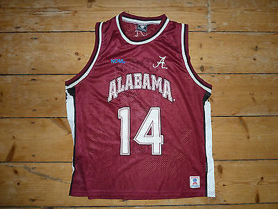 medium NCAA Alabama College Basketball Vintage Jersey Vest Shirt Jersey Mens #14