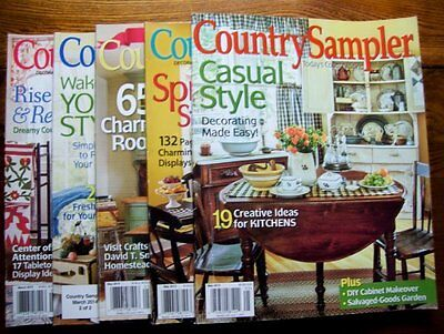 Lot Of 5 Country Sampler Magazine Back Issues, March - June, Easter Spring