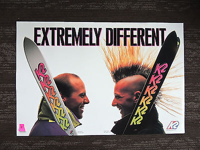 "RARE K2 Skis Legends Glen Plake and Phil Mahre Poster ""Extremely Different"""