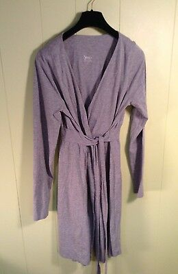 Bump In The Night Maternity Color Grey Size S Robe