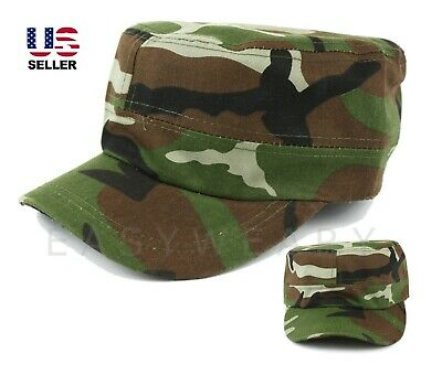 Men Women Military Hat Army Cadet Patrol Castro Cap Golf Baseball Castro  Camoufl b44a5cc22a