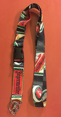 Jagermeister Lanyard ID With Detachable Clip And Keychain Ring New