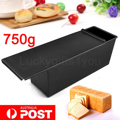 NEW 750G Nonstick Rectangle Pastry Bread Cakes Loaf Tin Box Baking Pan Bakeware
