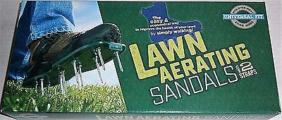 LAWN AERATING SANDALS with 2 STRAPS Universal Fit
