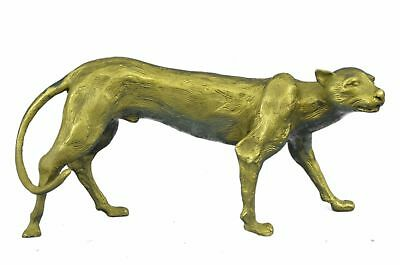 Large Bugatti Sleek Jaguar Puma Leopard Art Deco Figurine Decor Bronze Sculpture