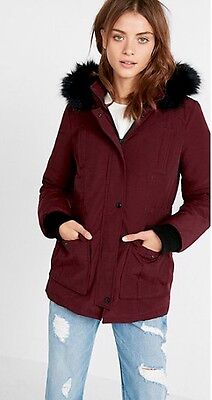 Express Hooded Parka Down Jacket Women's Size Small