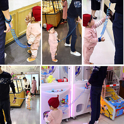 1x New Anti-lost Harness Baby Walking Safty Wrist Link Rope Child Toddler Safety