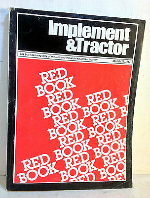 1987 Implement & Tractor Red Book Farm and Industrial Equipment Specs 71st(5064)