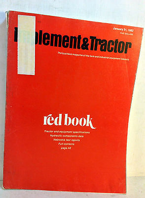 1982 Implement & Tractor Red Book Farm and Industrial Equipment Specs 66th(5067)