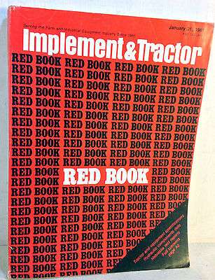 1981 Implement & Tractor Red Book Farm and Industrial Equipment Specs 65th(5068)
