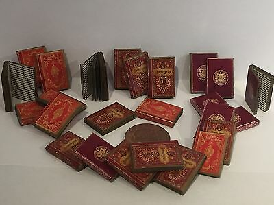 Dolls house miniature books, Georgian style 25 in set, 1:12th scale with text