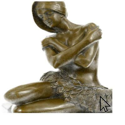 Hot Cast Preiss Nude Hawaiian Women On Stone Art Bronze Sculpture Statue Fig SW