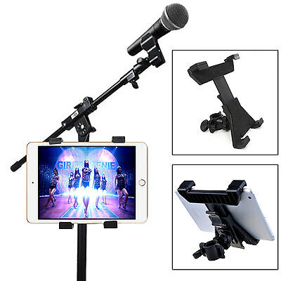 "Universal 7""-11"" Tablet iPad Holder for Mic Microphone Stand Bike Bicycle Mount"