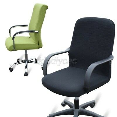 Elasticity office Computer chair cover side zipper design arm chair cover Khd015