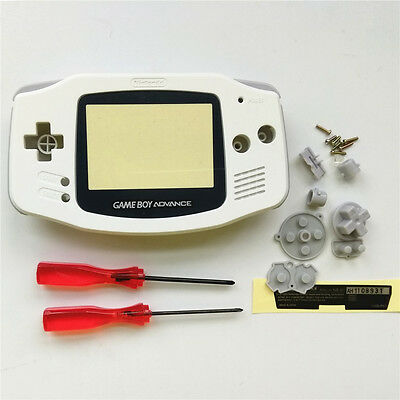 White Full Housing Shell Pack for Nintendo Gameboy Advance GBA Repair