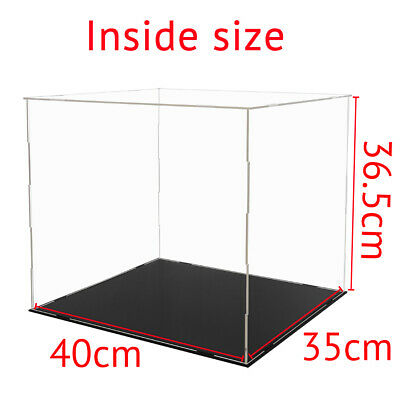 "16""/40cm Acrylic Plastic Display Box Large Perspex Case Dustproof Self-Assembly"