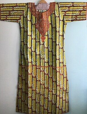 Ankara Stoned/ Embroidered African Kaftan dress