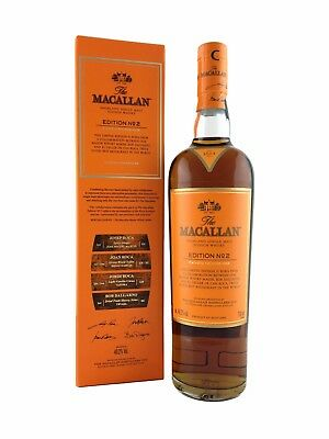 The Macallan Edition No.2 Malt Scotch Whisky 700ml. 48.2%alc Limited Release