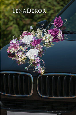 wedding car decoration, MAYA , ribbon, bows, prom limo  ,mariage, matrimonio